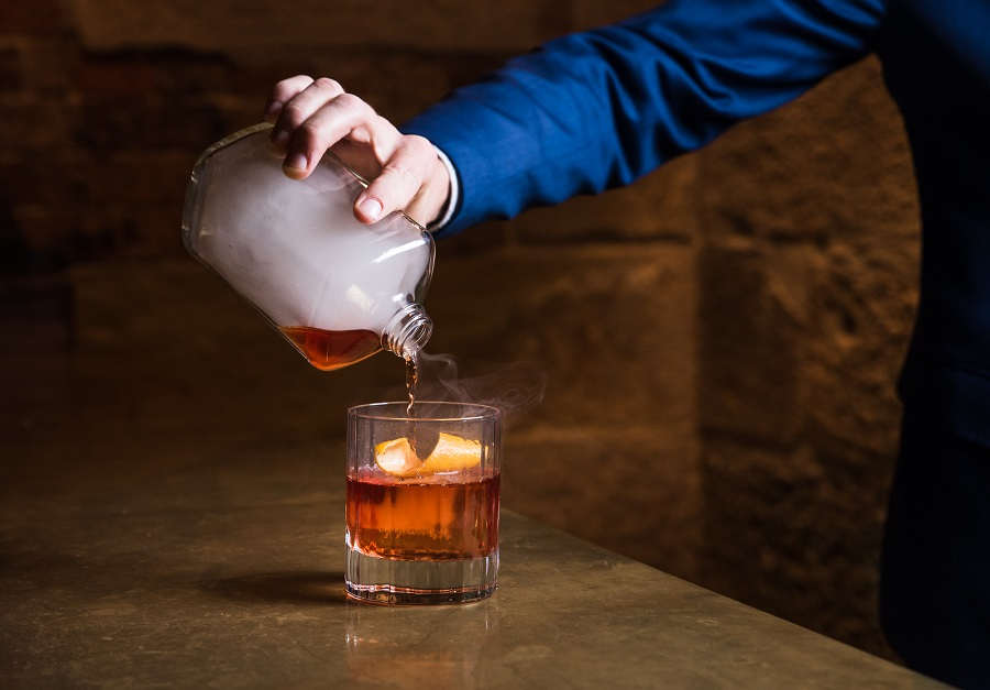 The Cut Bar Grill Smoked Negroni